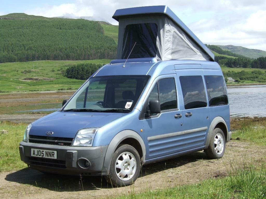 ford tourneo connect compact campervan in isle of mull. Black Bedroom Furniture Sets. Home Design Ideas