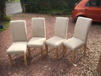 Set of 4 dining room chairs