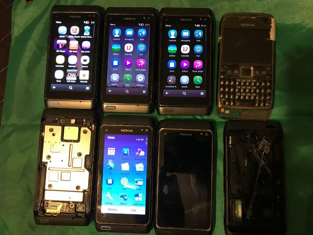 Nokia N8 x 6 and E71 x 1 Mobile Phones Job Lot