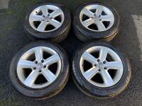 16'' GENUINE VW GOLF MK7 DOVER MK6 CADDY ALLOY WHEELS TYRES ALLOYS 5X112