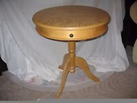 Drum Table with Draw
