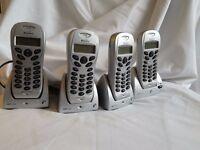 *CHARITY SALE* 4 wireless Home Phones Binatone brand