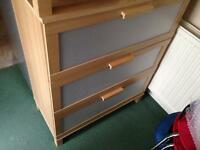 3 Chest of 3 drawers one large and 2 side drawers Ikea