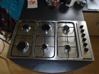 6 ring stainless steel hob