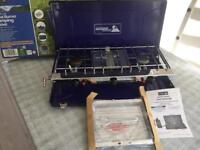 Gas double burner and grill