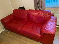 FREE red leather sofas