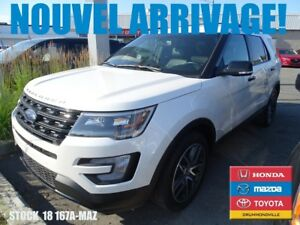 2016 Ford Explorer Sport*3.5L ECOBOOST*DVD+AWD+CUIR+GPS//