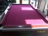 pool table 6x4 slate bed