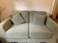 Modern Velvet-like 2 Seater Sofa Green
