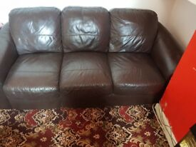 2 three seater leather sofas in very good condition
