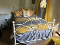 Cream Metal bed :small double
