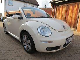 VW Beetle convertible, 1.6 Luna, cream, HPI clear