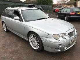 MG ZT-T+ 2497cc Petrol Automatic 5 door Estate 52 Plate 01/09/2002 Silver