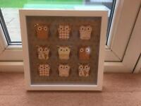 Framed owl art