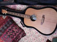 Martin DX1 tawny satinwood guitar (rare)