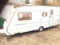 Caravan Abbey impression 520 4berth with motor mover and full awning