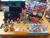 Nintendo 32gb wii u plus games and amibos