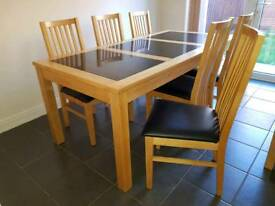Dining Table, 6 Chairs and Side Board