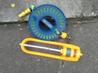 Cassette Hose and garden sprinkler