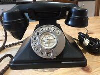 Vintage working Bakelite telephone