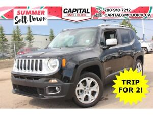 2017 Jeep Renegade Limited 4WD*Nav*Heated Leather*Sunroof*18Whee