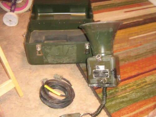 U. S. MILITARY AN/PIQ-5 SPEAKER AMPLIFIER BARRETT INTERCOMMATION