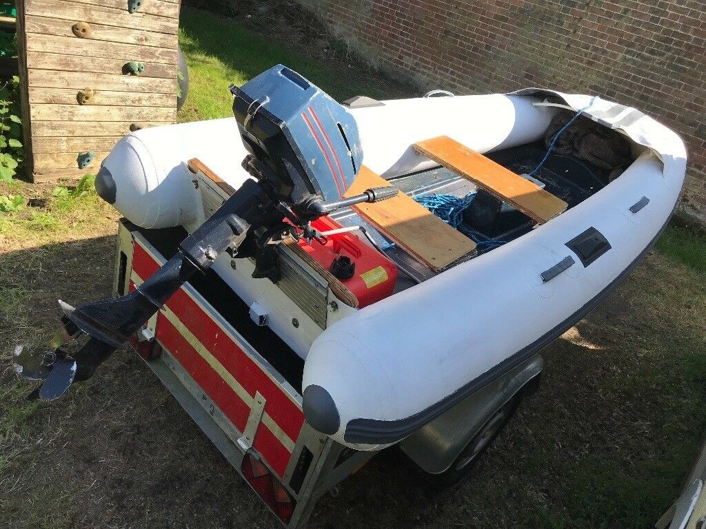 10ft rib boat hard bottom with engine | in Finchampstead, Berkshire |  Gumtree