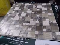 GLASS AND STONE MOSAIC WALL TILES