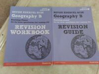 GCSE revision guides for Geography, Chemistry, Biology and Spanish