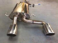 Janspeed stainless steel exhaust system Renault Clio 182 sport cup decat ktec racing trophy 172