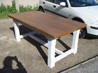 Country style painted pine 6 foot table
