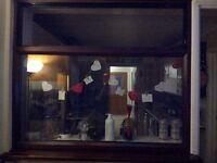 Mahogany uPVC window 1200x1050 £80