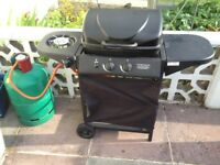 Gas BBQ and full gas cylinder