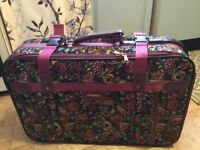 Small tapestry suitcase