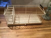 Brand New Cream Wire Dish Rack with pull out water catcher