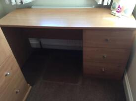 REDUCED for quick sale! Wooden Desk with Drawers in Excellent Condition!