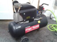 50l MAC Tools compresser 2.5HP Well looked after including air hose and coupling