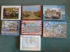 Jigsas Puzzles - X7 - 1,000 Pieces per jigsaw