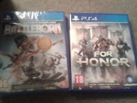 ps4 games , for honour and battleborn brand new !!!