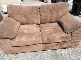 Dfs New/Ex Display Brown Jumbo Cord 2 Seater Sofa