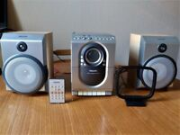 PHILIPS MC150 MICRO HI-FI SYSTEM With CD Player, Cassette Player, 2 Speakers and Remote Control
