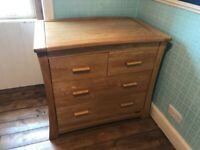 MAMAS AND PAPAS M&P OCEAN DRESSER / CHANGING TABLE / CHEST OF DRAWERS SOLID OAK
