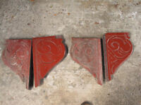 Showman's caravan mollycroft 1940s vintage carved wood porch brackets 4