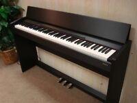 Roland F-110-SB Digital Piano Black with Black Piano Stool