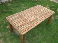 Large Hardwood Outdoor / Patio / Garden Table 189.5cm / 74.5 inches long