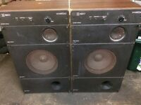 Wharfedale stereo speakers Mach3 100W made in England