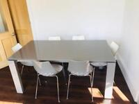 Calligaris Italian dining table and chairs