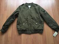 Brand New Michael Kors Olive Bomber Jacket