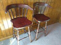 Wooden Bar Stools (2)