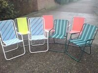 8 FOLD UP CHAIRS